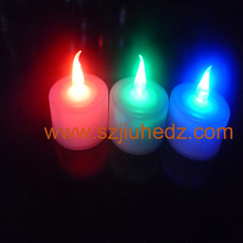 led blowing off tea light candle