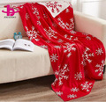 Christmas gift,Super Soft Warm 100% Organic Cotton Jacquard Baby Cable Knit Throw Blanket with Snowflakes Pattern Design