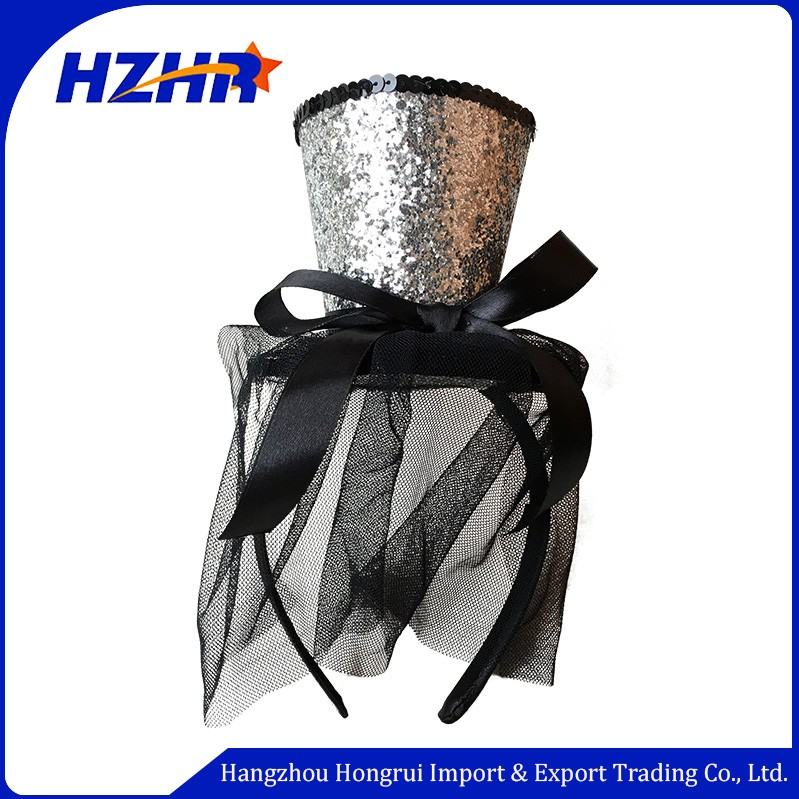 10 Years Professional China Factory Manufacturer Superior quality party girl sexy lace mini top hat headband