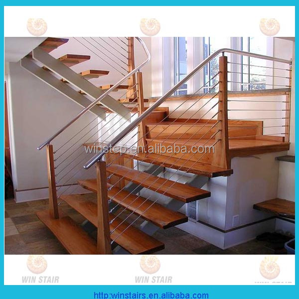 staircase tension wire railing or cable wire fence
