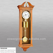 Wall pendulum clocks for sale Wooden case Gloden pendulum CE/FCC/ISO standrad PW1623HR