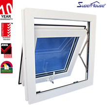 Gold supplier upvc top hung window design vinyl window for office