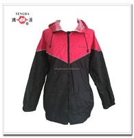 high quality OEM woman rain wear with hood