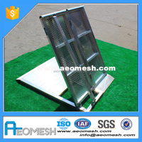 AEOMESH Aluminum Barricade road block safety fence