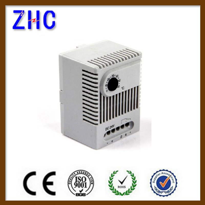 IP20 DIN RAIL 35MM 12V 24V DC High Accuracy Fan Heater Adjustable Mechanical Mini Temperature Controller Cabinet Thermostat