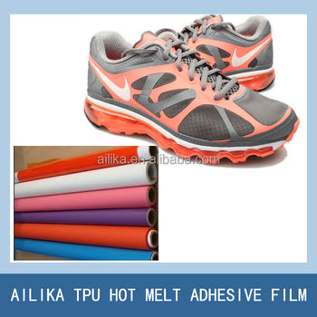 high strength TPU hot melt film instead of shoe leather for making seamless vamp toe puff