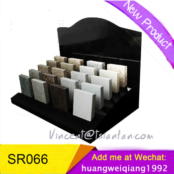 SR066stone display rack stone display stand stone sample display stand