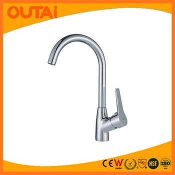 Single Handle Brass Kitchen Faucet for Sink /Single Hole Chrome Plated Kitchen Water Mixer Taps OT-8453B