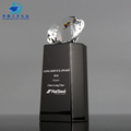 Crystal Diamond on Top Black Crystal Trophy Award Engraved Corporate Awards
