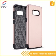 Double layer tpu+pc hybrid phone cases for Samsung Galaxy S8
