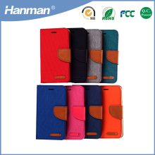 Wholesale fashionable pu flip leather cover case for iphone se tablet case