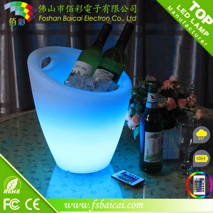 Eco-friendly waterproof led ice bucket/ice to buck for KTV, nightclub / ice bucket plastic