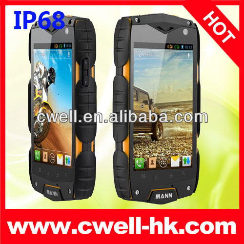 Qualcomm Snapdragon MSM8225 IP68 rugged smart phone 4inch