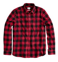 wholesale custom red plaids thick flannel shirt from China factory