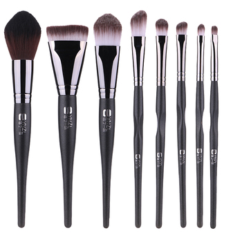 High quality makeup brushes copper ferrule synthetic hair 8pcs custom logo makeup brush set