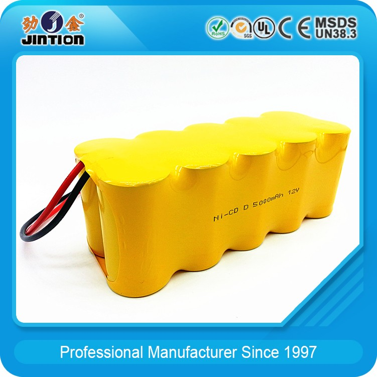 Ni-Cd D 5000mAh 12v Rechargeable Battery Pack