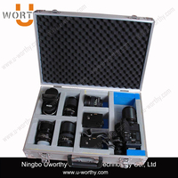 Fashionable Aluminum Carrying Tool Case with Foam for Camera