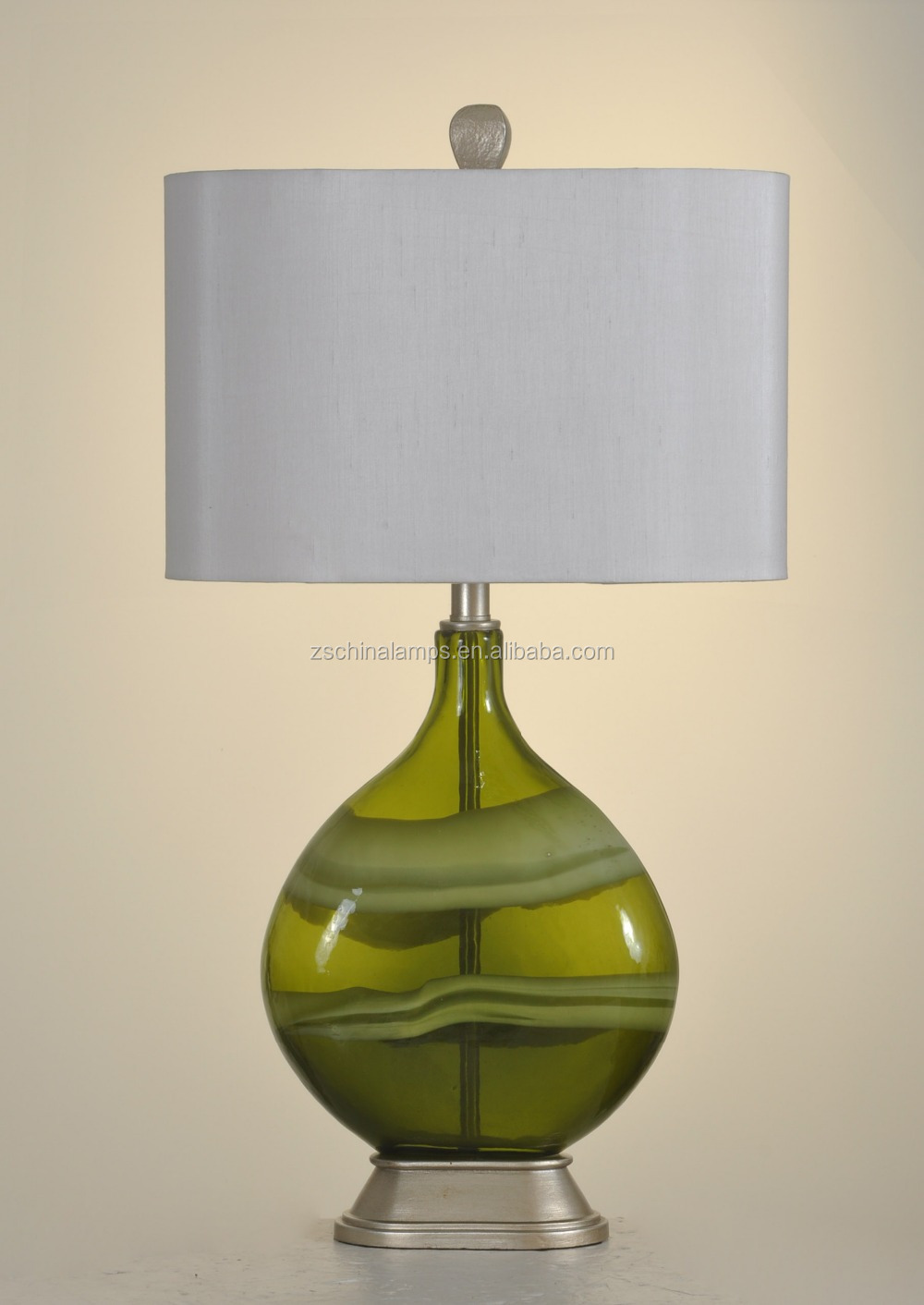 Wholesale modern style thicken base green glass table lamp for Table lamp bases wholesale