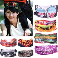 Head Face Mask Multi Wear Cotton Tube printing Bandana Durag Biker Motorcycle Scarf Snood