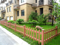 wpc villa garden fence,portable fence ,wood plastic composite fence for lawn