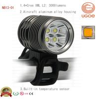 Ugoe brand 3000 Lumen mountain bike lights led best mtb front light brightest mountain bike light