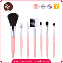 Wholesale Cheap pink private label makeup brush set