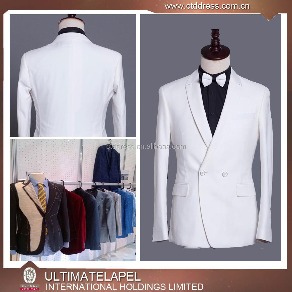 New Design Fancy White Style Evening Party Pant Suits for men
