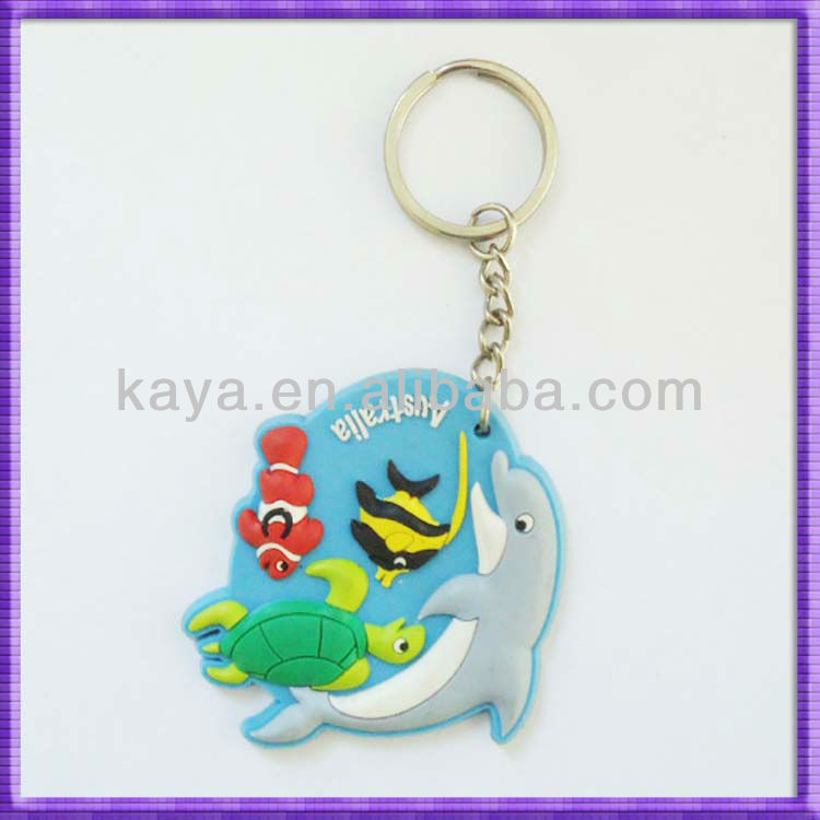 Fashion plastic fancy key ring