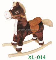 Ride On Horse Toy in Dark Brown