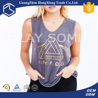 2016 promotion factory price v-neck sleeveless women slim fit t-shirt