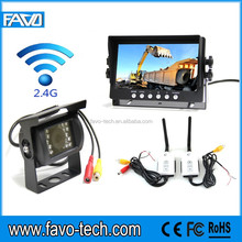 DC12V&24V 7 Inch wireless reverse camera system for truck
