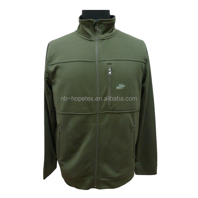 men's green jacket stand collar zip up fashion out wear
