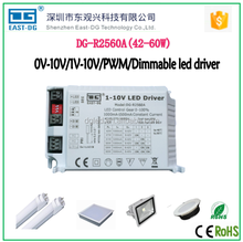 Dimmable 60W led driver CE & RoHS 0-10v dimming led driver