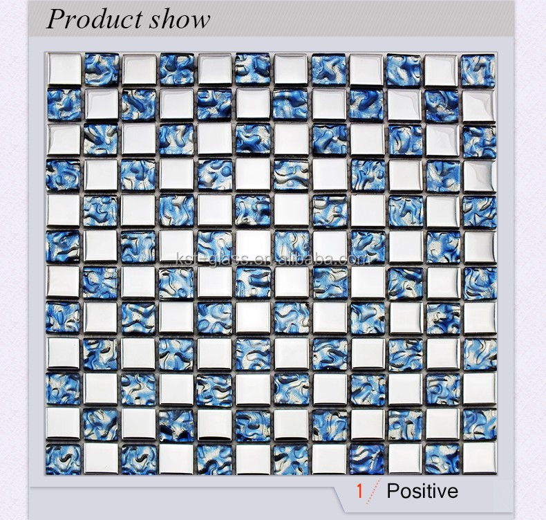 wholesale 23x23mm plating glass and electroplating glass mosaic