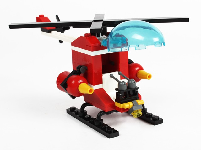 91 pcs plastic fire control helicopter building block toys plastic helicopter toy small