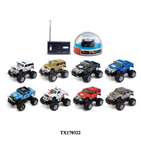 1:58 mini RC cars big hummer drifting with light