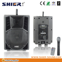 SHIER AK8-04 8 Inch USB SD China bluetooth amplifier wireless microphone speaker