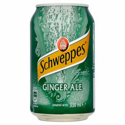 SCHWEPPES 330ml Ginger Ale Soft Drink Can FMCG hot offer