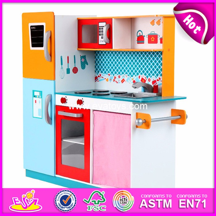 2018 Modern White wooden toy kitchen,DIY wooden toy kitchen for kids,Pretend children wooden toy kitchen