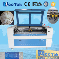 Cheap price engraving machine co2 laser AKJ1410-2h double head 3d diamond laser engraving machine