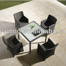 Lowest price rattan furniture outdoor dinner table and chairs for 4 used patio furniture