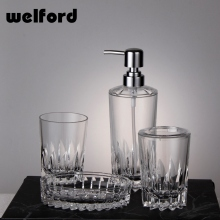Clear acrylic bathroom accessory set for christmas promotion