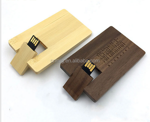 Cheap Price Custom Logo wooden USB card Flash Drive as promotional gift