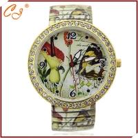 Yellow iris metal belt diamond watch at a low price wholesale