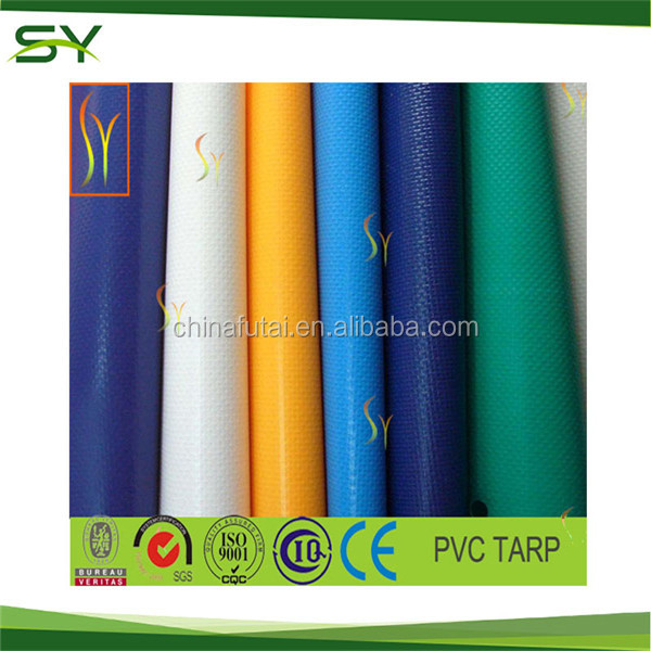 2017 coated and laminated tarpaulin Waterproof PVC Fabric Tarpaulin, korea pvc tarpaulin