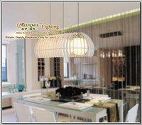 2013 Villa White Blown Glass Art Drum Light 3 Pendant Lights with LED-E27 Bulbs MD6188-L3