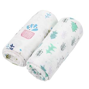 High quality Wholesale baby Wraps Reusable baby Muslin swaddle blanket