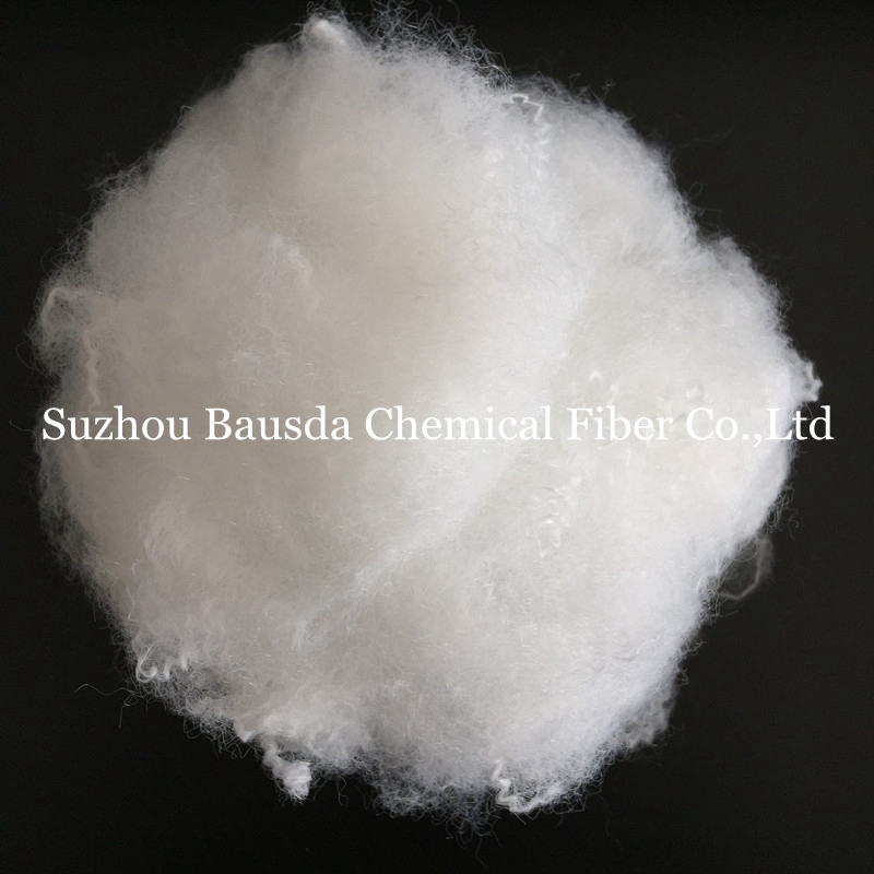 virgin conjugate siliconized polyester staple fiber use in filling material