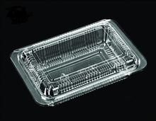 blue pvc vacuum formed plastic vegetable tray