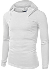 Latest Design Muscle Fit Mens Gym Hoodies Muscle Fit White Hoodie